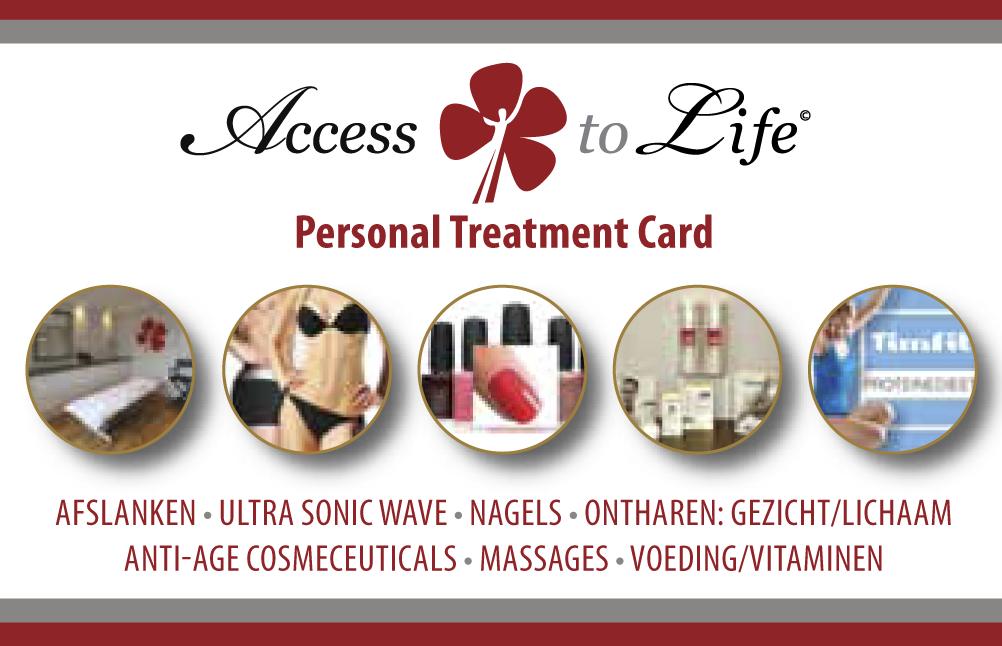 Personal Treatment Card - kortingskaart